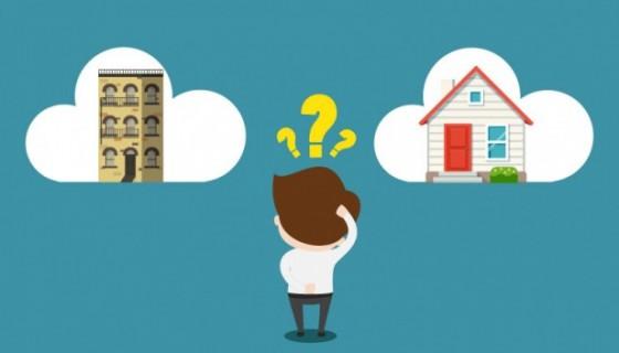 ¿Comprar apartamento o casa?