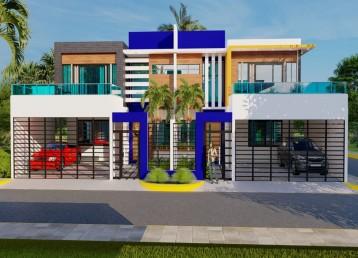 Proyecto residencial de casas duplex en la Autopista de San Isidro