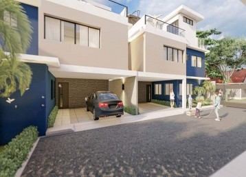 Proyecto cerrado de casas de 3 niveles